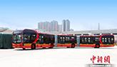 أطول حافلة كهربائية نقية في العالم بطول 27 مترا